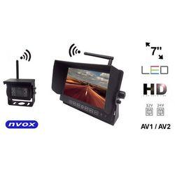 """NVOX HM712W Bezprzewodowy zestaw cofania z monitorem LCD 7"""" cali LED HD AV z kamerą bezprzewodową 12V 24V"""