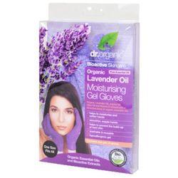 Dr Organic Lavender Oil Moisturising Gel Gloves, rękawiczki silnie nawilżające z organicznym olejkiem lawendowym, 1 para