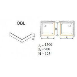 SANPLAST obudowa do brodzików OBL 90x150x12,5 625-401-1580-01-000