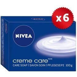 Zestaw 6x NIVEA 100g Creme Care Mydło w kostce