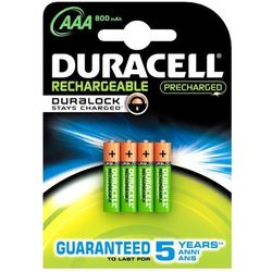 4 x akumulatorki Duracell Stays Charged Duralock R03 AAA 800 mAh (blister)