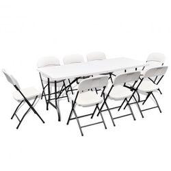 Stół ogrodowy rozkładany + 8 krzeseł (180 cm) Zapisz się do naszego Newslettera i odbierz voucher 20 PLN na zakupy w VidaXL!