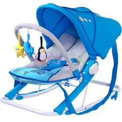 Leżaczek bujaczek Aqua Caretero (niebieski)