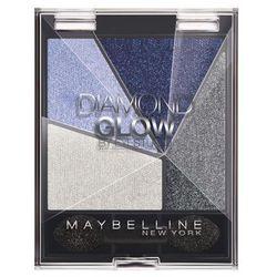 Maybelline Diamond Glow poczwórne cienie do powiek nr3 Blue Drama