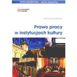 Prawo pracy w instytucjach kultury. Sfera budżetowa - opinie ekspertów. (opr. miękka)