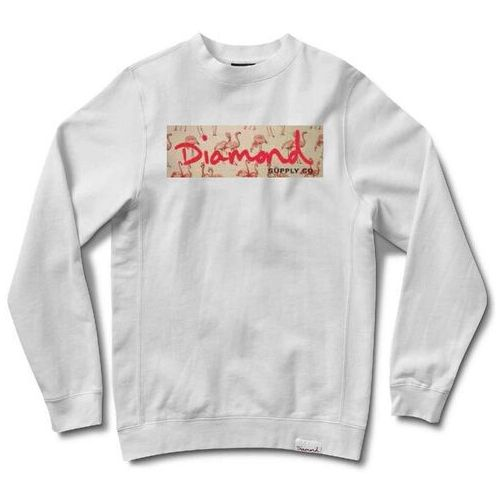 bluza DIAMOND - Flamingo Box Logo Crewneck White (WHT) rozmiar: XL