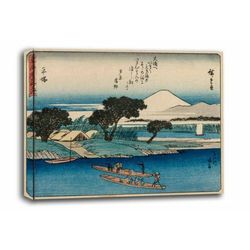 The fifty-three stations of the tokaido hiratsuka, hiroshige - obraz na płótnie