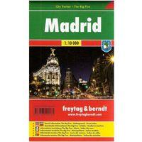 Madryt city pocket mapa 1:10 000 Freytag & Berndt (opr. miękka)