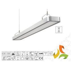 Oprawa oświetleniowa LESTRA 2x28W liniowa, aluminium T5 podwieszana