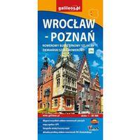 Wrocław - Poznań. Rowerowy bursztynowy szlak R9. Mapa turystyczna. Wyd. 2015. Galileos