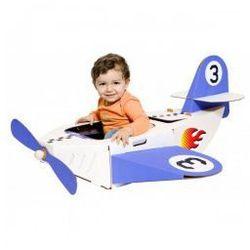 Tekturowy samolot z naklejkami
