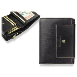 9f2ef3fc27faa portfele portmonetki skorzany damski portfel cavaldi p032 czarny ...