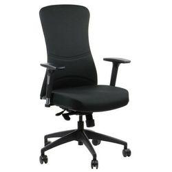 Fotel biurowy gabinetowy KENTON krzesło biurowe obrotowe w kolorze czarnym