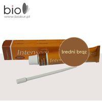 Henna Intensive - profesjonalna henna do brwi i rzęs, middle brown - średniobrązowa 20 ml - TUBA XXL