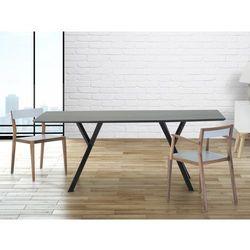 Stół do jadalni, kuchni, salonu - 180 cm - czarny - LISALA