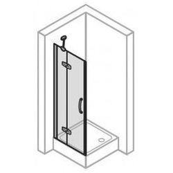 Drzwi do ścinaki bocznej Huppe Aura LEWE, 120 cm, wys. 190 cm, montaż na brodziku, srebrny mat, szkło przeźroczyste 400305.087.321