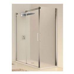 Drzwi prysznicowa przesuwne Novellini Elysium Diamanti 2P+F 146-148,5 cm z elementem stałym, do ścianki bocznej F- lewa, chrom, DIAMA2PF150S-1K