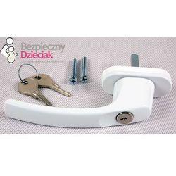 Klamka z kluczykiem ze stopu aluminium, KATLER - Biały