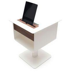 spell Stolik na tablet Nomad nocny w kolorze białym, drewno orzech nomad-nightstand