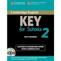 Cambridge English Key (KET) for Schools 2 Student's Book Pack (Student's Book (podręcznik) with Answers and Audio CD) (opr. miękka)