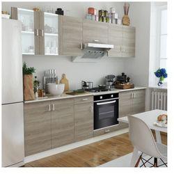 Zestaw szafek kuchennych w kolorze dębowym i piekarnik pod zabudowę, 6 funkcji Zapisz się do naszego Newslettera i odbierz voucher 20 PLN na zakupy w VidaXL!