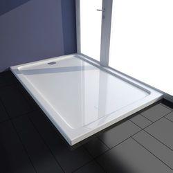 vidaXL Brodzik prysznicowy prostokątny ABS biały 80 x 120 cm Darmowa wysyłka i zwroty