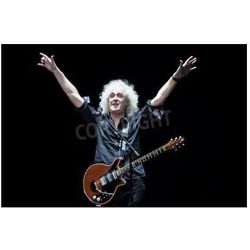 Fototapeta MINSK, BELARUS - MARCH 21, 2014 Brian May from Queen performs with Kerry Elils during Acoustic by Candlelight