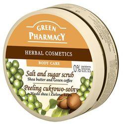 Green Pharmacy, peeling cukrowo-solny, masło shea i zielona kawa, 300 ml