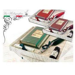 Zestaw piśmienniczy - notatnik + pióro gęsie ze stalówką