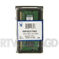 Kingston DDR3 2GB KVR16LS11S6/2 SODIMM - produkt w magazynie - szybka wysyłka!