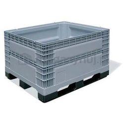 Skrzyniopaleta plastikowa pełna na 3 płozach. Wym. zew.: 1200x1000x780mm