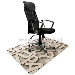 Podkładka ochronna ze wzorem 040 - LITERY 3D pod krzesło - 100x140cm - gr. 1,3mm