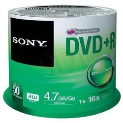 Płyty DVD+R Sony - 4,7GB 16x - 50 szt.