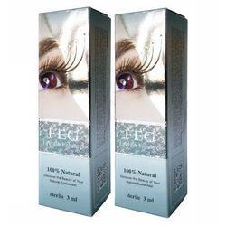 FEG - FEG Eyelash Enhancer Hologram x 2 - Odżywka do rzęs, serum wzmacniające rzęsy - ZESTAW 2 SZTUKI w promocyjnej cenie - 3 ml x 2