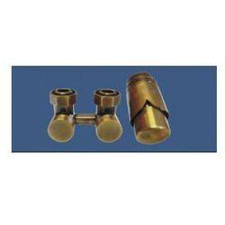 Zestaw armatury ekskluzywnej Schlosser figura kątowa, antyczny mosiądz + nypel 2szt. 1/2 x 3/4 601000040