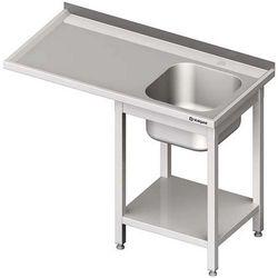 Stół ze zlewem jednokomorowym i miejscem na urządzenie STALGAST 1900x700x900 prawy