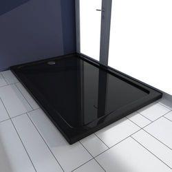vidaXL Brodzik prysznicowy prostokątny ABS czarny 80 x 120 cm Darmowa wysyłka i zwroty