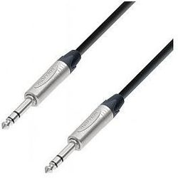 Adam Hall Cables 5 Star Series - Microphone Cable Neutrik 6.3 mm Jack stereo / 6.3 mm Jack stereo 1.5 m przewód mikrofonowy