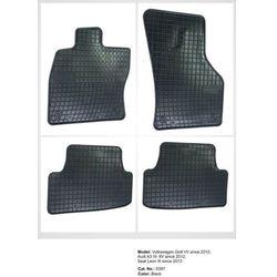 Dywaniki gumowe czarne z kompletem stoperów - Audi A3 (8V) od 2012