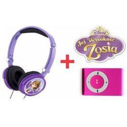 Słuchawki Dzieci Jej Wysokość Zosia + Odtwarzacz MP3 Różowy