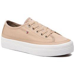 622b2b00fed18 Tenisówki TOMMY HILFIGER - Corporate Flatform Sneaker FW0FW02456 Desert  Sand 932. eobuwie.pl