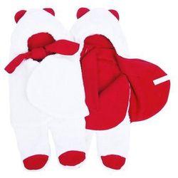 Glück Baby, Rożek futerkowy z nóżkami, do fotelika samochodowego, biały/czerwony Darmowa dostawa do sklepów SMYK