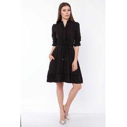 suknie sukienki czarna stylowa sukienka pepitke z
