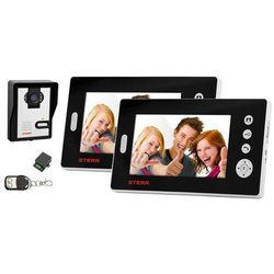 VDW100 - Wideodomofon bezprzewodowy z dwoma monitorami (czarny)