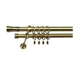 Karnisz Podwójny MARTA Ø19/19mm Loca : dlugosc karniszy - 280 cm, Rodzaj - Metalowy, Kolor Karnisza - Tytan, Mocowanie - Ścienne
