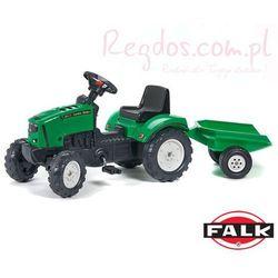 FALK Traktor LANDER zielony przyczepa otwier maska