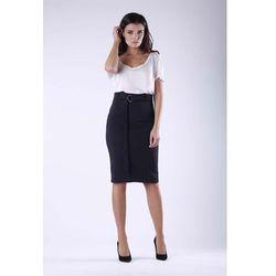 0e7ad3da2a3fa7 spodnice spodniczki szara olowkowa spodnica z wysokim stanem na ...