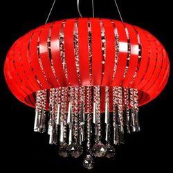 LAMPA wisząca ARMADA LDP 878 - 400 RD Lumina Deco halogenowa OPRAWA kryształowa crystal czerwony