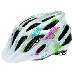 ALPINA FB Junior 2.0 Flash - Kask rowerowy młodzieżowy, 50-55cm - White-Silver-Flags (50-55cm)