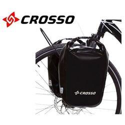 CO1010.30.01 Sakwy rowerowe Crosso DRY SMALL 30l Czarne zestaw na tył / przód